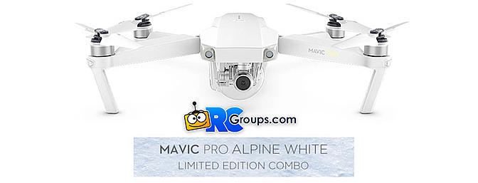 DJI Mavic Pro Limited Edition Alpine White Combo
