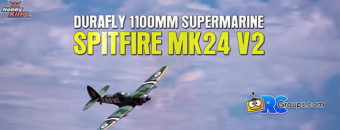 Durafly Supermarine Spitfire Mk24 V2 with Retracts/Flaps/Nav Lights