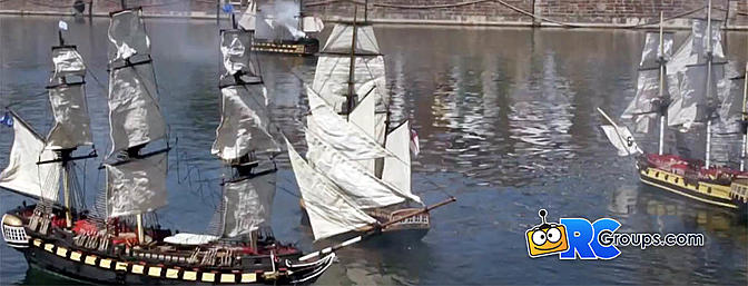 Article Scale RC Sailboat Mock Battle - Video - RC Groups