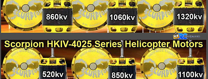 NEW Scorpion HKIV-40mm Series Motors!