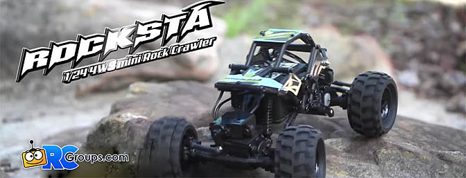 Basher RockSta 1/24 4WS Mini Rock Crawler RTR With Metal Gears
