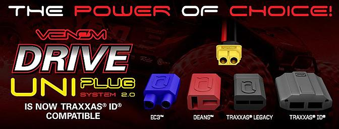 New Venom Drive Surface Batteries with Uni Plug 2.0