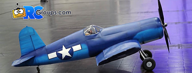 Article Amazing Giant F4u Corsair Indoor Flight Video Rc