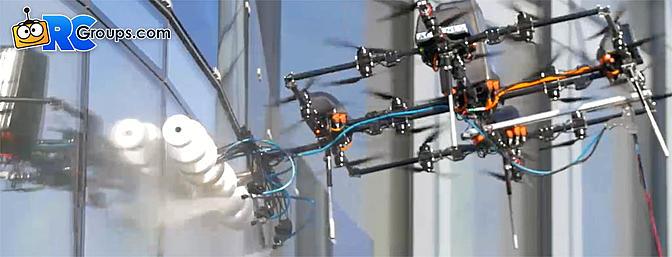 Aerones Building Cleaning Drone