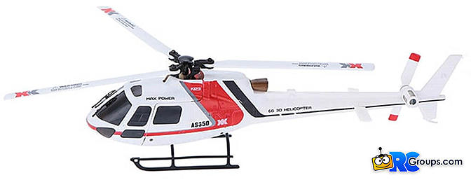 XK K123 3D/6G AS350 Ecureuil RC Mini Helicopter RTF