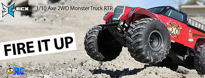 ECX 1/10 Axe 2WD Monster Truck RTR ECX03056