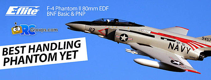 E-flite F-4 Phantom II 80mm EDF BNF Basic