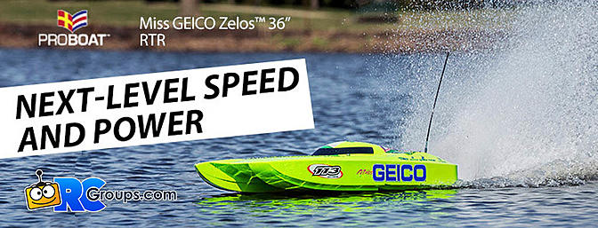 "Pro Boat Miss GEICO Zelos 36"" Twin Brushless Catamaran"