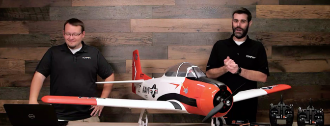 E-flite brings back the 2M Carbon-Z T-28