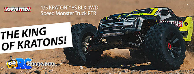 ARRMA 1/5 KRATON 4X4 8S BLX Brushless Speed Monster Truck RTR