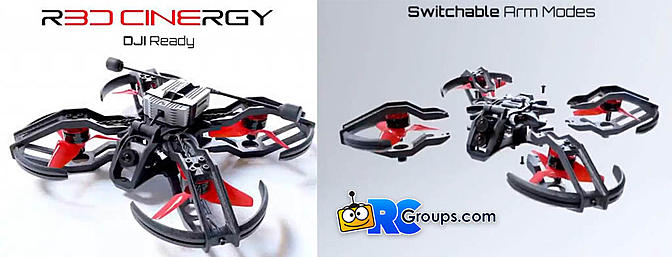 "R3D Cinergy 3"" for DJI FPV"