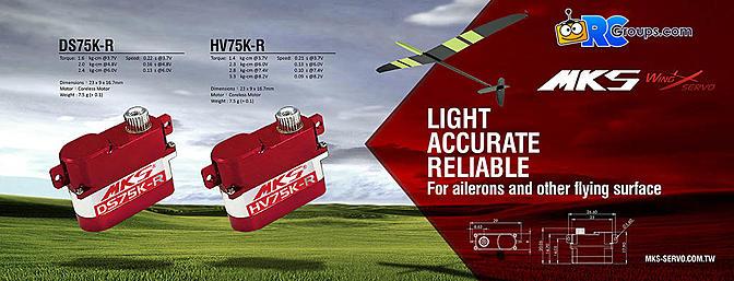 New MKS HV75K-R and DS75K-R Servos