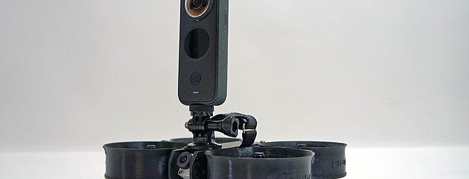 Mounted on a drone for aerial filming
