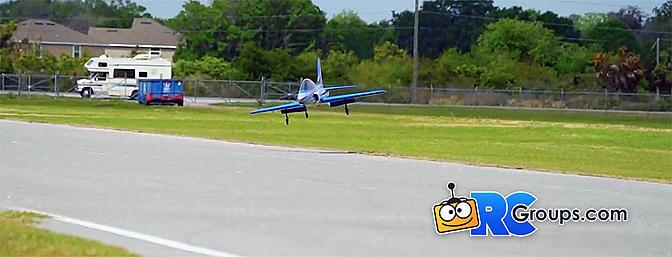 Cross Wind Landing a Havoc Jet