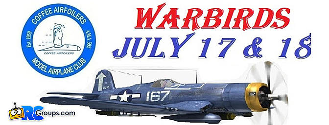 Coffee Airfoilers Warbird Event July 17-18