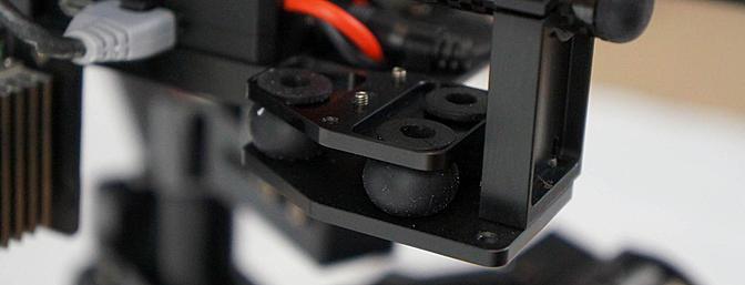 Camera gimbal dampening mounts