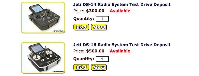 Test drive a Jeti radio