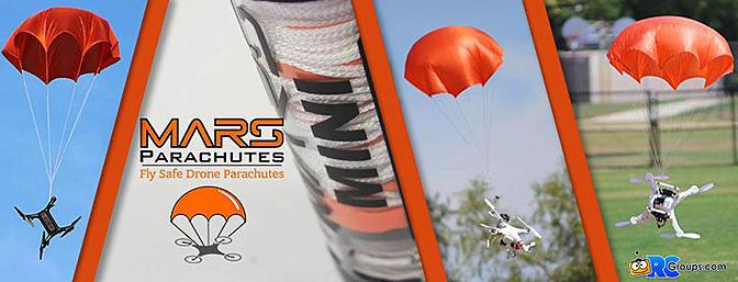 Mars Parachutes - FlySafe Drone Parachutes