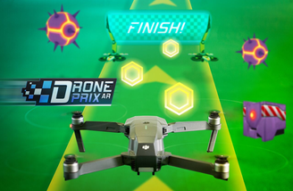 Fly through virtual courses and compete with others