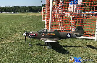 P-39 from ForceRC FMS ready for take off