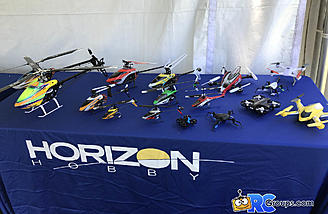 Blade helis at the Horizon Hobby booth