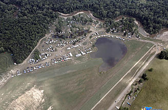 3D flight line and pond at the far end of Triple Tree Aerodrome
