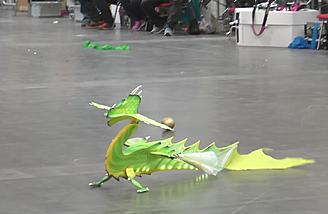 This flying RC dragon is hungry for attention