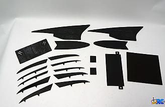 All the wing fins and covers included in the box.