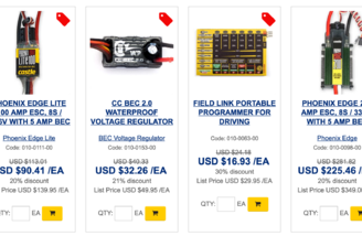 ESC's and programmers on sale