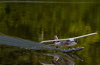 Micro float flying with the UMX Timber