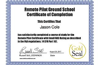 Certificate of Ground School Completion