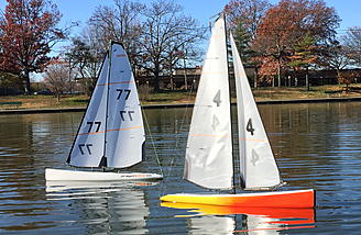 Racing sailboats is a fun hobby
