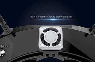 A heat sink fan keep things cool and fog free
