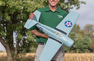 "38.4"" Wingspan Warbird"