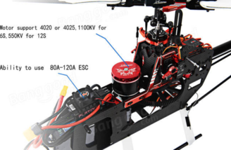 Includes a 4020 1100kv brushless motor
