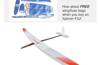 Buy an Xplorer F5J and Get FREE Wing/Fuse Bags