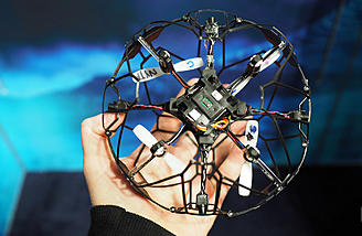Quadcopter with a protective cage