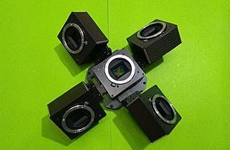 Combine cameras for oblique photography