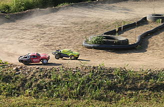 RC Truck track