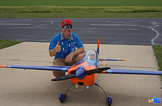 Jase Dussia after an aerobatic demonstration