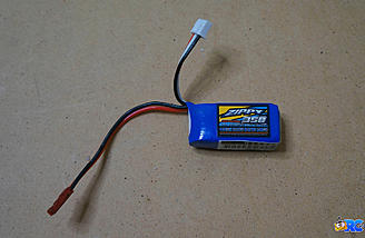Zippy 2S 350mAh lipo batteries to run the truck