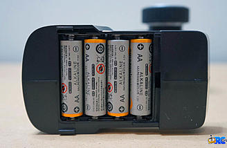 4 AA batteries are required for the transmitter