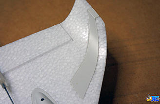 Wing tips are supported with plastic reinforcements for durability