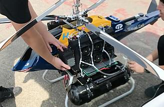 Hydrogen fuel-cell powered helicopter