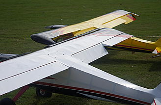 Two different wingspan sizes on these prototypes