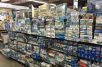 Huge plastic model selection