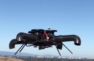 Bladeless drone in flight