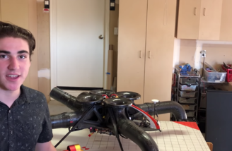 Creator Stefano Rivellini with his drone