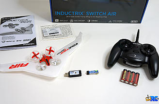 Everything included with the RTF Inductrix Switch Air