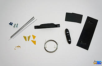 Parts from the hardware bag, I'm not using the blade style peg that is included